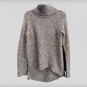 Freshman Forever Gray White Knit Sweater